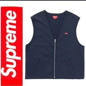 Supreme zip up sweat vest NWT